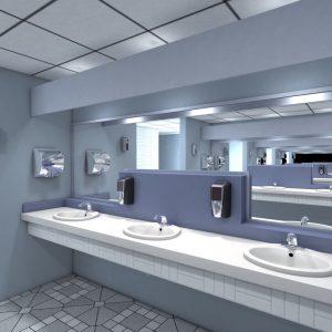 lumcell dispensere i baderomsmiljø